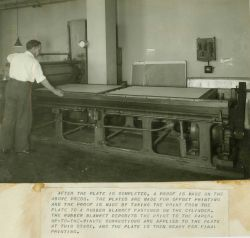 After the plate is completed, a proof is made on the above press Image