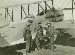 Army aerial photography unit with three-lens camera Image