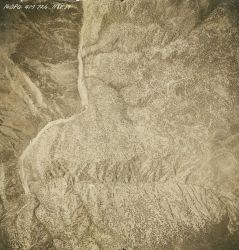 Aerial photograph of the Salmon River area showing the rugged nature of the country. Image