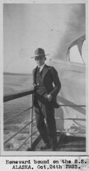 Bill King headed home from Alaska on the S.S Photo