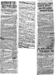 Newspaper clipping detailing the work of the Coast and Geodetic Survey. Photo