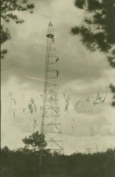 Bilby 116-foot portable steel tower used in triangulation Photo