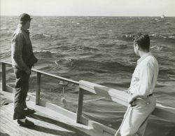 Unidentified oceanographic operations. Photo