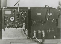 Components of an early electronic navigation system Photo