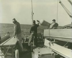 Wiredrag operations on the C&GS Ships WAINWRIGHT and HILGARD. Photo