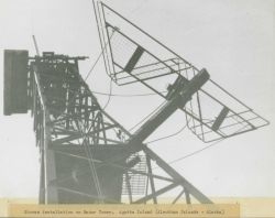 Shoran installation on radar tower Photo