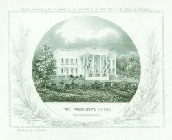 Engraving of the White House by Albert Boschke of the Coast Survey. Photo