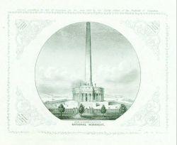 Engraving of George Washington's National Monument by Albert Boschke of the Coast Survey Photo