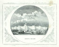 Engraving of the Lunatic Asylum by Albert Boschke of the Coast Survey Photo