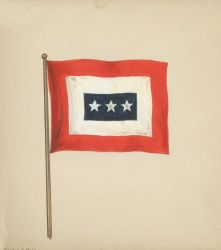 Suggested C&GS flag design prior to selection of official flag. Photo