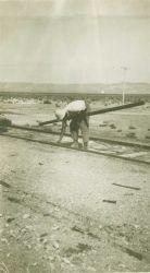Leveling work in the Nevada desert. Photo