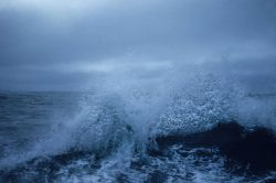 A stormy day on the Bering Sea. Image