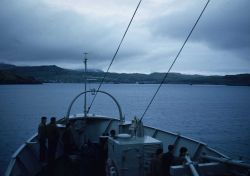 Approaching the Adak piers. Image