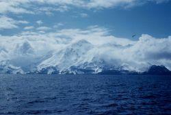 An iron-bound coast approaching Adak. Image