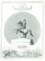 Andrew Jackson monument as engraved by Albert Boschke. Image