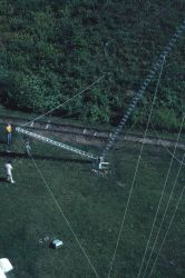 ARGO electronic navigation system transmitting antenna being erected Image