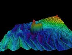 Multi-beam sonar image of ship wreck Photo
