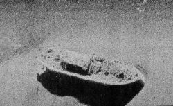 Side scan sonar image of USS MONITOR. Photo