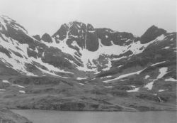 A beautiful mountain peak somewhere in the Aleutians. Image