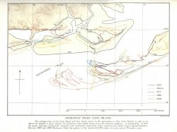Studies of changing configurations of barrier islands through time in the vicinity of present day Rockaway Inlet, New York. Photo