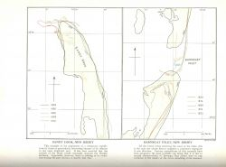 Studies of changing configurations of barrier islands through time in the vicinity of present day Sandy Hook and Barnegat Inlet, New Jersey. Photo