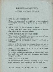 Cold War era instructions giving employees instructions as to what to do in the event of a nuclear attack. Photo