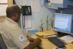 Chief Survey Tech Buck Gardner. Photo