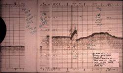 Single beam depth record of obstruction on seafloor Photo