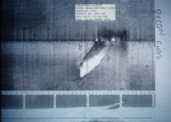 Side scan sonar image Photo