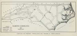 North Carolina triangulation network designed for converting state to the first State Plane Coordinate System for surveyors. Photo