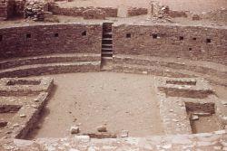 The Great Kiva at Pueblo Bonito. Photo