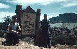 Rock formation known as the Kneeling Nun near the Chino (Santa Rita) open pit copper mine. Photo