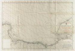 British Admiralty nautical chart overlayed with