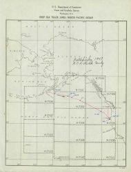 Trackline of Coast and Geodetic Survey ship PATHFINDER Photo