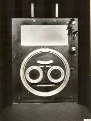 Front indicator panel showing traced tide curve and various dials related to predicting tide with Tide Prediction machine No Photo