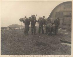 Building party arrived at 3,000 foot level camp at Army deserted meteorological outpost Photo