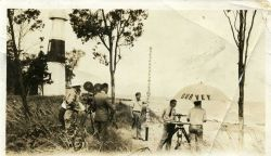 Filming of Coast and Geodetic Survey field party circa 1935. Photo