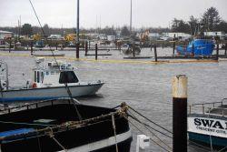 Post-tsunami surveys of Crescent City Harbor following damage from Japanese tsunami following the Tohoku 9.03 earthquake Photo