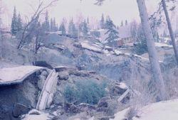 Alaska 1964 Good Friday earthquake damage. Photo