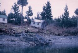 Alaska 1964 Good Friday earthquake damage. Photo