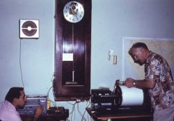 Siesmograph equipment at Coast and Geodetic Survey geophysical observatory Photo