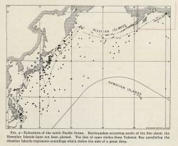 Earthquake epicenters in the Western and Northern Pacific Ocean as of early 1927 Photo