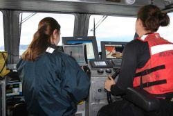 Monitoring survey operations. Photo