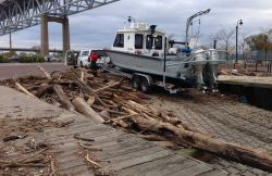 In Sandy's immediate aftermath, NOAA survey vessels responded to calls for assistance from storm-ravaged areas of New York, New Jersey, Delaware Bay,  Photo