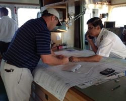 Most mariners now use Print-on-Demand nautical charts that are up-to-date to the moment of printing. Photo