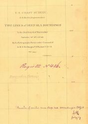 Title block of the hydrographic survey H-406 of