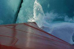Healy's Bow breaks through Arctic ice! Photo