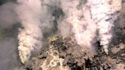 Hydrothermal vents found on the undersea volcano Kawio Barat (West Kawio) Seamount. Photo