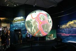 The Science on a Sphere display at the Sant Ocean Hall of the Smithsonian National Museum of Natural History. Photo