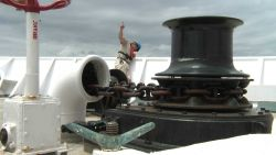 Raising the anchor on the OKEANOS EXPLORER Photo